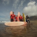 Surfing Famara Lanzarote