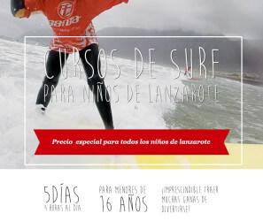 Clases de Surf para niños de Lanzarote
