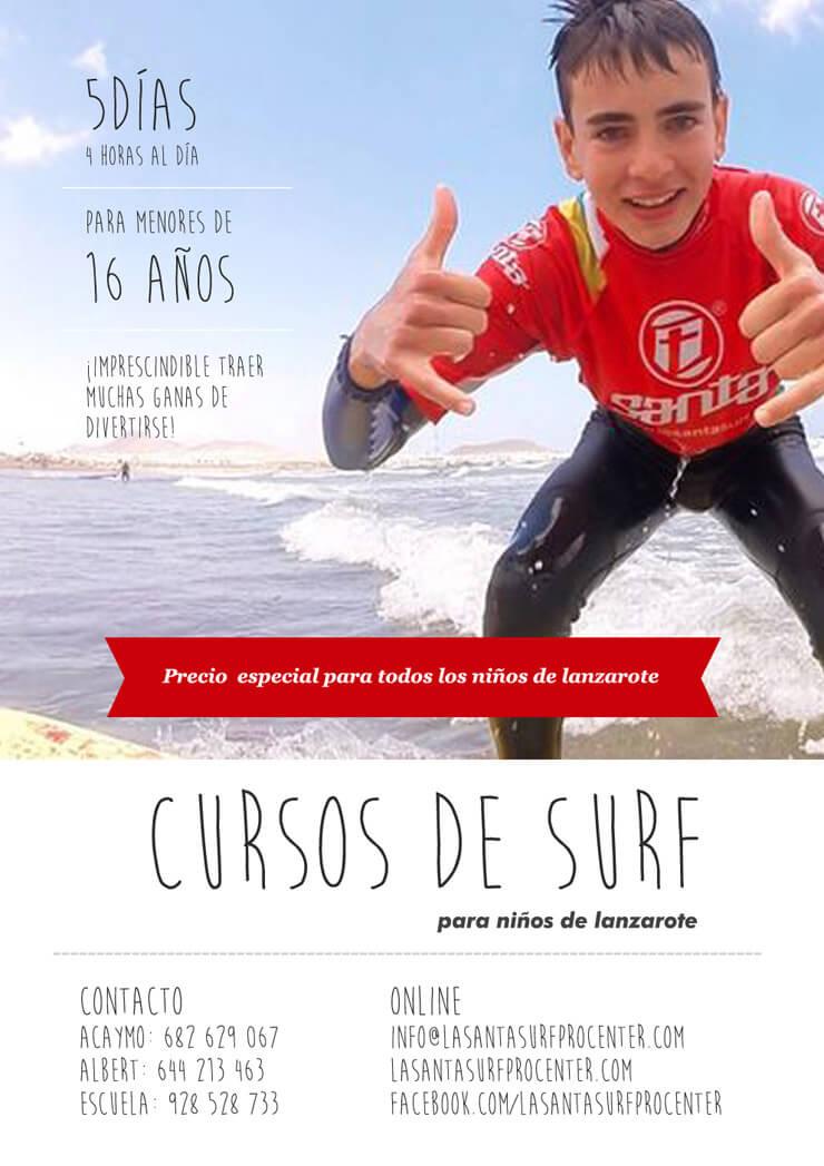 Cursos de Surf de Verano en Lanzarote