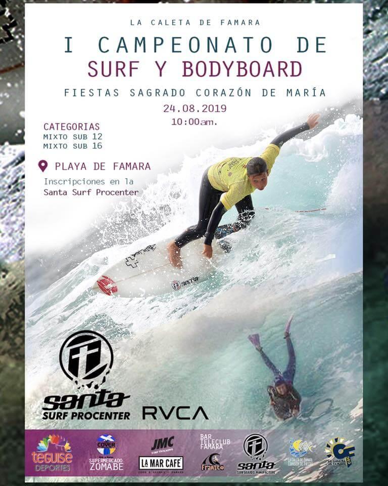 I Campeonato de surf y bodyboard en honor a las fiestas de Sagrado Corazón de María - Fiestas de Famara