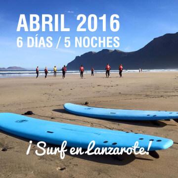Surf Todo Incluido en Lanzarote - Abril 2016